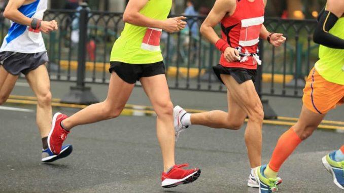 Laufschuhe für einen Marathon